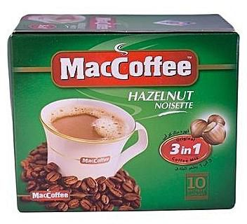 MACCOFFEE HAZELNUT 10 PC